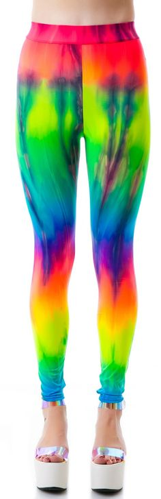 Obscure Couture Nyx Rainbow Tie Dye Leggings | Dolls Kill