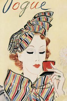 vintage vogue illustration