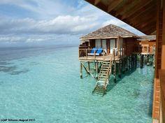 Our honeymoon pad! Vilamendhoo Island resort and spa, Jacuzzi Water Villa.