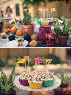 Colorful wedding sign for Mexican Dia de Los Muertos themed wedding. #weddingsigns #dayofthedead #welcomesign http://www.weddingchicks.com/2013/10/31/dia-de-los-muertos/