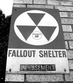 Sign - fallout shelter 1950s. These scared me!