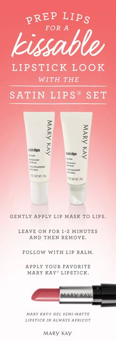 ​Ready for soft, kissable lipstick look? Treat your pout to the ultimate two-step system that gently exfoliates and moisturizes your lips. | Mary Kay