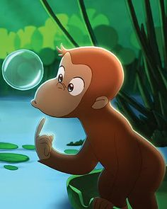 This could be a sign for a Bubbles area!! Use the Bubble machine or giveout bubbles as favors?? Curious George Birthday Party Ideas - Special Birthday Party Ideas