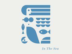 Geometric Graphic Design Works Only Under These Conditions Design Blog, Graphic Design Inspiration, Icon Design, Web Design, Inspirations Boards, Logos Online, Sea Logo, Logo Luxury, Sea Illustration