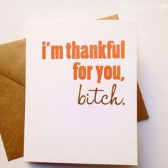 Thanks Card / Funny Friend Card / Friend Gift / Best Friend / Thinking of You / Expressing Gratitude (4.25 USD) by BEpaperie