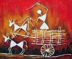 Warli village by bansi sheth pepupstreet.com, #artstory, #handmade, #warli, #artwork, #walldecor