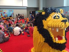 A lion's eye view of LEGO DUPLO.