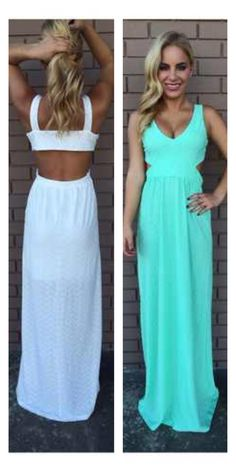 Perfect summer dress. I like the blue one!!