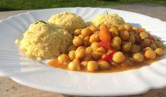 Cícerový guláš so pšenom. Chana Masala, Quinoa, Food And Drink, Gluten Free, Snacks, Ethnic Recipes, Ale, Diet, Bulgur
