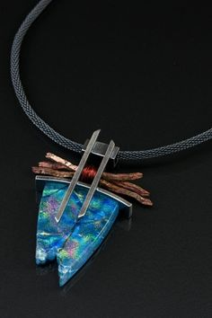 Vetro Caldo Designs necklace with Asian flair