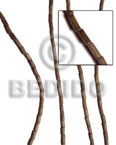 Wholesale Greywood Heishe 2x5mm Wholesale Tube & Heishe Wood Beads