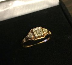 Vintage Edwardian 10K Gold and Diamond by OldTimeSparkle on Etsy