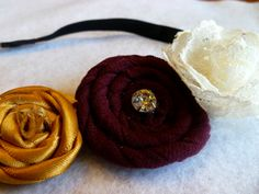 Texas State! Though, surely, it could work for A too... Texas State University Flowered Headband. $7.00, via Etsy.