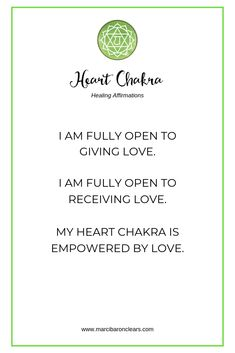 Here are 20 affirmations to raise the vibration of your Heart Chakra: Chakra Healing Meditation, Throat Chakra Healing, Qi Gong, Healing Affirmations, Positive Affirmations, Chakra Mantra, Anahata Chakra, Gratitude, Healing Heart