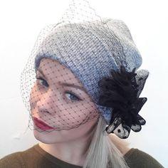 Beanie with veil Veil beanie with bow by PrettyLittleAttire