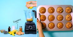 Watch the full video: | How To Make Healthy, Gluten-Free Muffins In The Blender