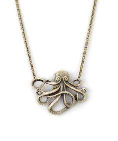 Love this Goldtone Octopus Pendant Necklace by ZAD on #zulily! #zulilyfinds