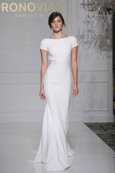 The latest bridal collection by Pronovias for Fall 2017 at New York International Bridal Week. Wedding Dress Trends, Best Wedding Dresses, Bridal Dresses, Wedding Styles, Wedding Gowns, Bridesmaid Dresses, Bridal Looks, Bridal Style, Pronovias Bridal