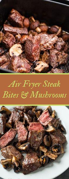 Air Fryer Recipes Steak, Chuck Steak Recipes, Air Fryer Recipes Appetizers, Air Fryer Recipes Low Carb, Air Fryer Recipes Breakfast, Air Fryer Steak, Air Fryer Dinner Recipes, Low Carb Recipes, Snack Recipes