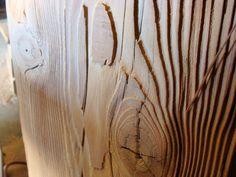 sandblasted lumber
