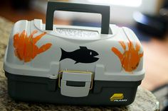 Tackle Box for Dad (with a little artistic help from the kids)