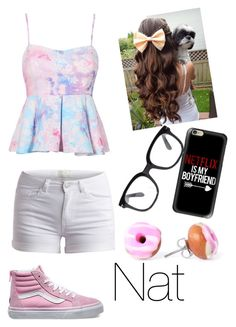 """""""Road trip"""" by nat-cat-iconic ❤ liked on Polyvore featuring Pieces, Vans, Casetify and Forever 21"""