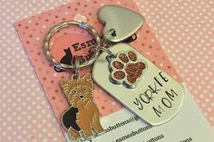 Yorkie gift Yorkie Mom Mother's  Day gift Hand Stamped
