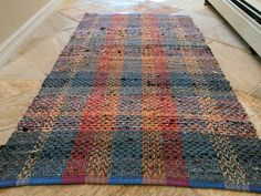 Colorful Rag Rug in recycled cotton on Etsy, 751,88 kr