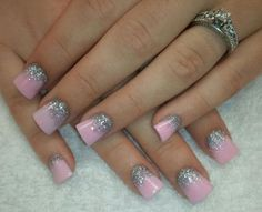 pink barbie acrylic nail designs luv this Get Nails, Love Nails, How To Do Nails, Hair And Nails, Simple Nail Art Designs, Cute Nail Designs, Acrylic Nail Designs, Gorgeous Nails, Pretty Nails