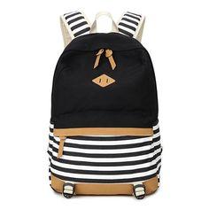 37.87$  Buy here - http://viqvg.justgood.pw/vig/item.php?t=3okz1d97659 - Abshoo Lightweight Canvas Backpacks for Girls School Rucksack Bookbags (Black )