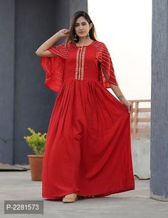 Fabric Rayon With ponchu Gota work M to XXL 999 with ship by Junction Indian Kurta, Western Gown, Ethnic Gown, Kurta Designs Women, Floral Sundress, Salwar Kameez, Sharara Suit, Matching Outfits, Indian Dresses