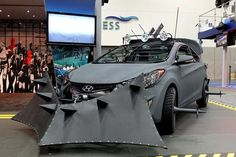 Im guessing that might get your through a Zombie Apocalypse. The Walking Dead Hyundai Elantra Coupe.