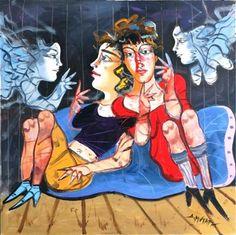 Composition for the Fantastic Theater, Dimitris Mytaras Greek Art, Art Database, Conceptual Art, Art Blog, Printmaking, Illustration Art, Fine Art, Artwork, Artist
