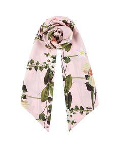 Ted Baker Sjaal met bloemendessin 180 x 25 cm