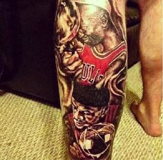 LeBron James Shares Picture of Fan's Michael Jordan-LeBron Tattoo (Picture)