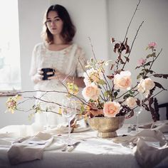 Feeling inspired again....a winter floral shoot with @kweekstudio
