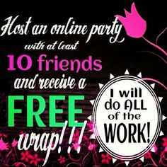 "It's easy peasy!!! Host an online party and get ""that crazy wrap thing"" for FREE! It is done on your computer from the comfort of your own home!! Message me now for details!! www.lynnmoncrief.myitworks.com wraps energy hair skin nails"