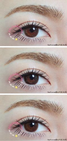 """K-pop celebrities like Girls' Generation and Hyuna (""""Gangnam Style"""" girl!) are famous for wearing colored circle lenses to give their eyes an"""