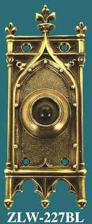 Antique Recreated Amiens Gothic Pushbutton Door Bell (ZLW 227BL)