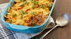 Who knew a bag of chips could be baked right into a delicious dinner casserole? We use Cool Ranch™ in this cheesy chicken bake, but try it with any flavor yo. Cheesy Chicken Casserole, Doritos Chicken, Chicken Bacon, Cracker Chicken, Doritos Casserole, Cheeseburger Casserole, Hamburger Casserole, Buffalo Chicken, Doritos Bake