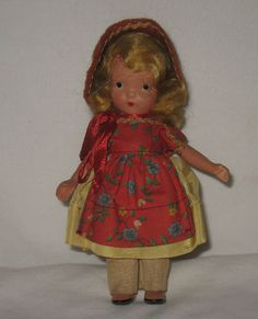 1941-42 Bisque Nancy Ann Pudgy Jointed Leg #120 To Market, To Market  MY28 #NancyAnn #Dolls