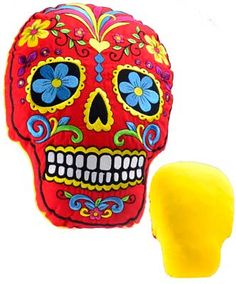 Red Day of the Dead pillow [WP503] - $39.95 : Wicca, Pagan and Occult Practice Mega Store - www.thetarotoracle.com