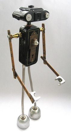 Armod 2 - Found Object Robot Assemblage Sculpture by Brian Marshall | Flickr - Photo Sharing!