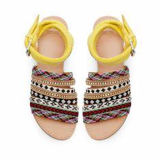 ETHNIC VAMP SHOE - Flat sandals - Shoes - Woman - ZARA Netherlands
