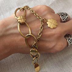 "Moschino Gold Tone Bracelet 8"" gold tone authentic Moschino bracelet, pre owned Moschino Jewelry Bracelets"