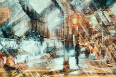 Stephanie Jung's Layered NY Photos Convey the City's Chaos Multiple Exposure Photography, Motion Photography, Time Lapse Photography, Abstract Photography, Artistic Photography, Street Photography, Collage Landscape, Creative Landscape, Double Exposition