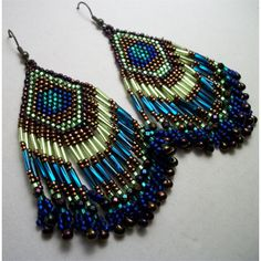 peacock earrings...:)