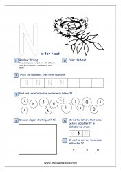 Check these Alphabet Recognition Activity Worksheets to help your child learn and recognize capital letters, objects that start with each letter, letter formation etc. Alphabet Writing Practice, Alphabet Tracing, Alphabet Activities, Pre Writing, Writing Skills, Preschool Math, Kindergarten Worksheets, Free Printable Worksheets, Printables