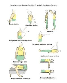 Multidirectional shoulder instability scapular rehab exercises