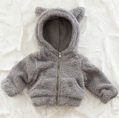 """Might have ot buy this for one of my """"nephews""""!! Too cute!! Hoody with Ears! @Divya Silbermann (Bhaskaran) Silbermann (Bhaskaran) Silbermann (Bhaskaran) Silbermann (Bhaskaran) #Hoody #Babies"""
